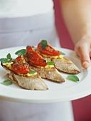 Crostini alla senese (Röstbrote mit Bohnencreme & Rösttomate)