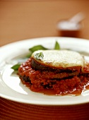 Aubergine and tomato bake with mozzarella