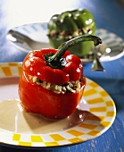 Stuffed pepper with rice and mince stuffing