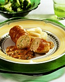 Veal roulades with mince and vegetable filling (Australia)