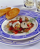 Seppia alla pugliese (stuffed cuttlefish, Italy)