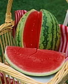 Watermelon, a wedge cut out