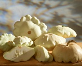 White patty pan squash (UFO squash)