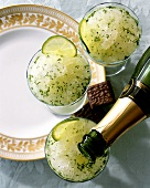 Champagne and lime granité
