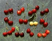 Various types of cherries