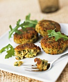 Chick-pea and coriander pancakes