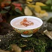 Chestnut soup with schinkenspeck