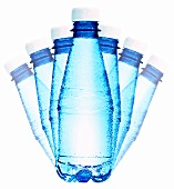 Seven bottles of mineral water