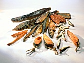 Different kinds of smoked fish