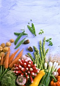 Still life with spring vegetables