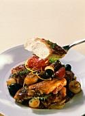 Mediterranean style braised chicken