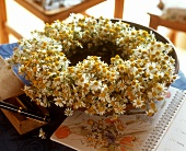 Wreath of chamomile flowers