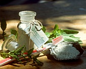 Tooth powder (washed chalk, lactose, herbs)