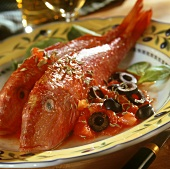Red mullet with tomato sauce