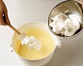 Folding in beaten egg white