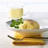 Dampfnudel (dumpling cake)