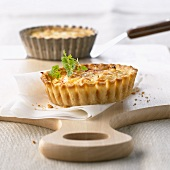 Salmon and artichoke tartlet for diabetics