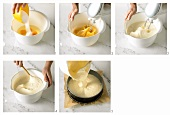 Making sponge mixture