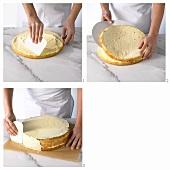 Filling a sponge base