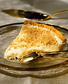A piece of coconut tart