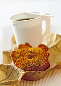 Sesame biscuits and a mug of coffee