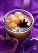 Pear chutney with star anise