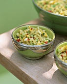 Bulghur wheat salad with vegetables