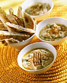Middle Eastern sesame dip with flatbread