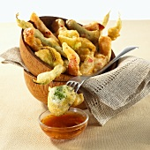 Vegetable tempura with sweet and sour chili sauce