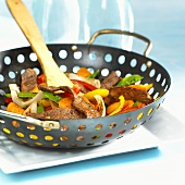 Pan-cooked beef and vegetable dish