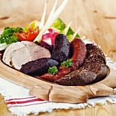 Hungarian meat platter