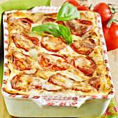 Vegetarian lasagne with tomatoes