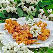 Acacia flowers in batter