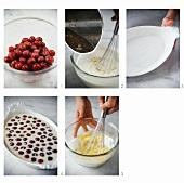 Making cherry clafouti