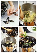 Preparing marinated mussels