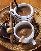 Spiced chocolate drink with allspice and long pepper