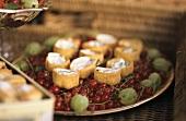 Redcurrants, gooseberries and herb quark pastries