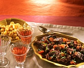 Daube de boeuf provençale (French meat stew)
