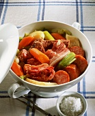 Mixed meat and vegetable stew