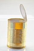 Opened food tin