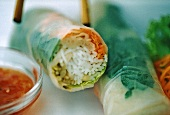 Bahn cuon (Vietnamese spring rolls) surreal photo