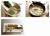 Making soup pancakes