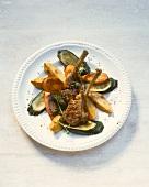 Lammkoteletts & Gemüse aus dem Backofen zubereiten
