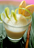Banana lassi (banana and yoghurt drink)