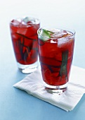 Spring Pimms (Pimms, cucumber and cranberry juice)
