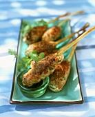 Minced chicken kebabs