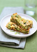 Asparagus frittata with chives
