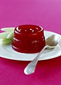 Turned-out raspberry jelly