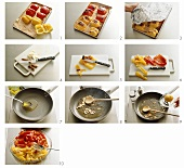 Making peperoni marinata (marinating peppers)