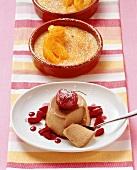 Crema catalana e panna cotta al caffè (Milk and cream desserts)